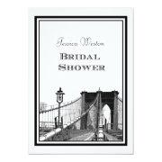 NYC Skyline Brooklyn Bridge #2 DIY Bridal Showr Personalized Invitations