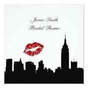 Nyc Skyline Silhouette, Kiss Esb Bridal Shower Sq Invitations