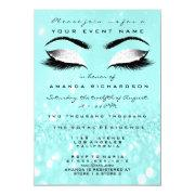 Ocean Makeup White Glitter 16th Bridal Shower Invitation