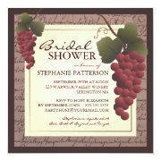 Old World Grapevine Wine Bridal Shower