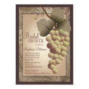 Old World Tuscan Grapevine Wine Bridal Shower