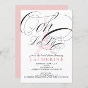 Ooh La La Paris France Bridal Shower Invitation