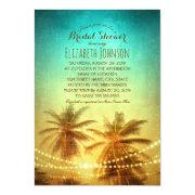 Palm Tree Sunset Beach Themed Bridal Shower