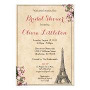 Paris Bridal Shower  - Pink Floral
