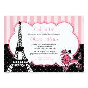 Paris Bridal Shower  - Pink And Black