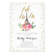 Paris Eiffel Tower Bridal Shower Invitations