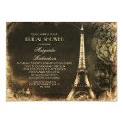 Paris Eiffel Tower Vintage Bridal Shower