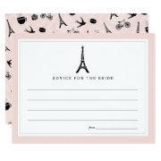 Paris Romance Bridal Shower Advice Card