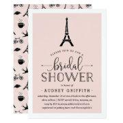 Paris Romance Bridal Shower Invitations