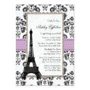 Parisian Lilac And Black Bridal Shower