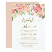 Peach And Pink Peony Flowers Bridal Shower
