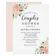 Peach Blush Watercolor Floral Couples Shower