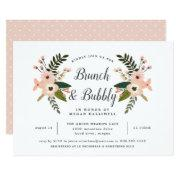 Peach Meadow Brunch & Bubbly Bridal Shower Invite