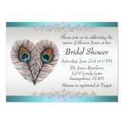 Peacock Bridal Shower Invitations FunBridalShowerInvitations