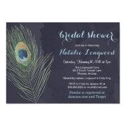 Peacock Feather Watercolor Bridal Or Bridal Shower