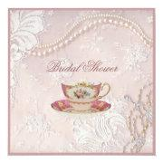 Pearl Blush Pink Lace Bridal Tea Party