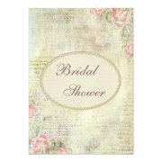 Pearls & Lace Shabby Chic Roses Bridal Shower