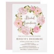 Peonies Wreath Bridal Luncheon