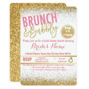 Pink And Gold Brunch & Bubbly Bridal Shower