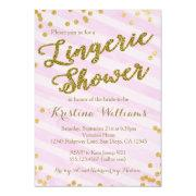 Pink And Gold Lingerie Bridal Shower
