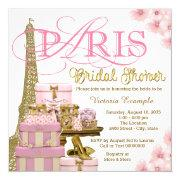 Pink And Gold Paris Bridal Shower