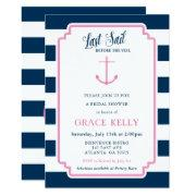 Pink And Navy Nautical Bridal Shower