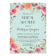 Pink Blue Vintage Flower Bridal Shower