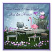 Pink Flamingo Wonderland Tea Party Bridal Shower