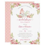 Pink Floral Watercolor Bridal Shower Tea Party