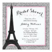 Pink Glam Paris Bridal Shower Invitation