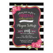 Pink Gold Black White Bridal Shower