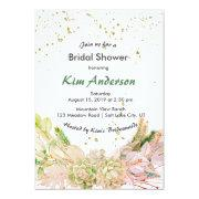 Pink Green Gold Romantic Succulent Bridal Shower