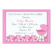 Pink Grill BBQ Shower Invitation
