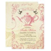 Pink Ivory Roses Vintage Bridal Tea Party
