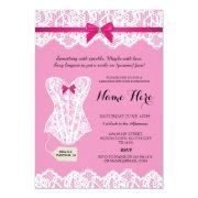 Pink  Bridal Party Corset Invites