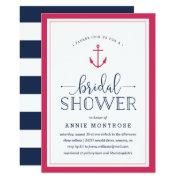 Pink & Navy Nautical Bridal Shower