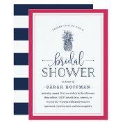 Pink & Navy Pineapple Bridal Shower