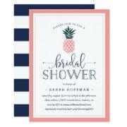 Pink Pineapple Bridal Shower Invitation