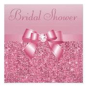 Pink Sequins, Bow & Diamond Bridal Shower