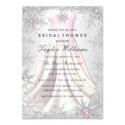 Pink Silver Jewel Snowflake Bridal Shower Dress