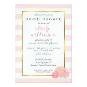 Pink Stripe & Blush Peony Bridal Shower