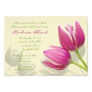 Pink Tulip Wedding Bridal Shower