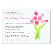 Pink Tulips - Bridal Shower Invitations
