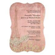 Pink Vintage Paris Parisian Stylish Bridal Shower