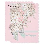 Pink & White Flowers Lattice Shower Party Invite