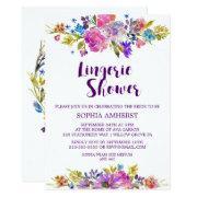 Plum Purple Garden Bridal Lingerie Shower Invite