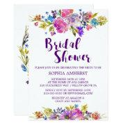 Plum Purple Garden Bridal Shower Invitation