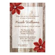Poinsettia Rustic Barn Wood Bridal Shower