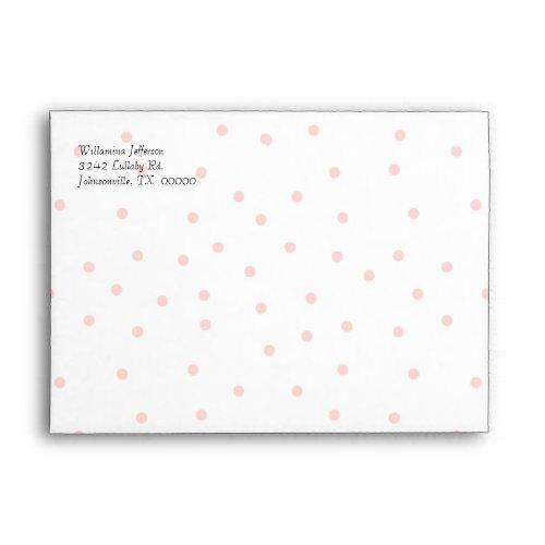 Pretty Pink And White Envelope