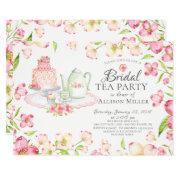 Pretty Pink Floral Bridal Tea Party